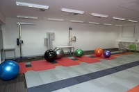 New Chiropractic facility rehabilitation room. Photo by Effy Alexakis, Photowrite.