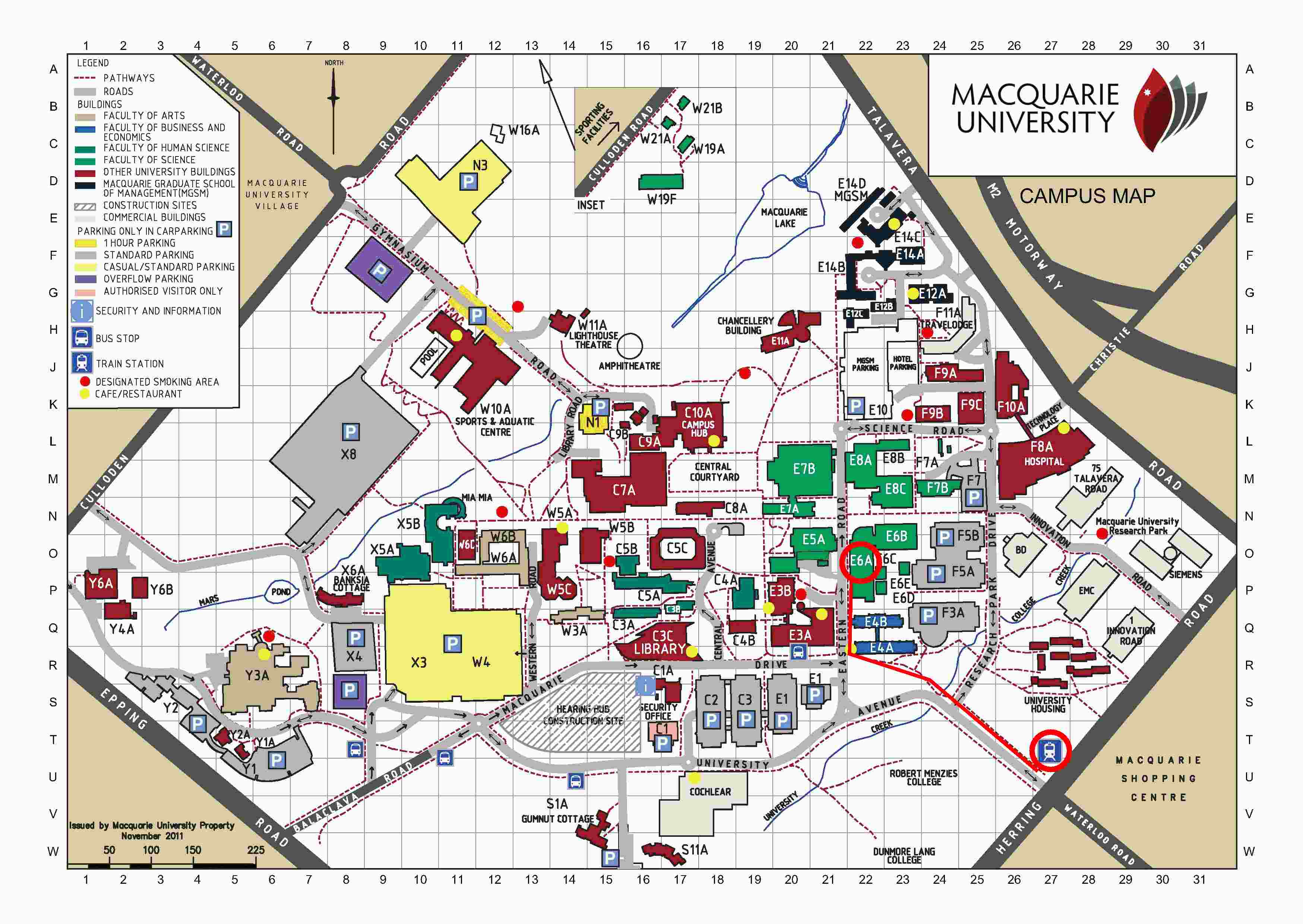 Macquarie University Map Contact information for Mark Johnson, Macquarie University Macquarie University Map